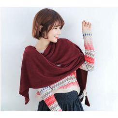 柚子美衣 - 針織圍巾