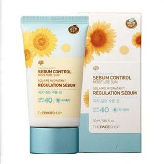 The Face Shop - Natural Sun Eco Sebum Control Moisture Sun SPF 40 PA+++ 50ml