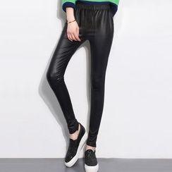 Grainie - Faux Leather Leggings