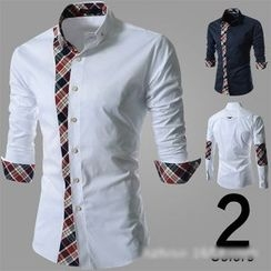 Hansel - Check Panel  Shirt
