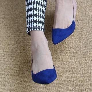 ZDJ Footwear - Two-Tone Kitten-Heels