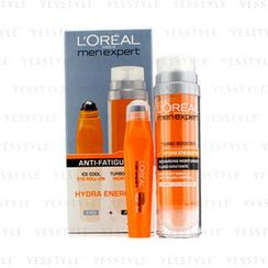 L'Oreal - Men Expert Set: Hydra Energetic Turbo Booster + Ice Cool Eye Roll-On