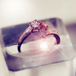 Nanazi Jewelry - Rhinestone Open Ring