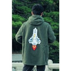 Ohkkage - Washed Cotton Hoodie Jacket