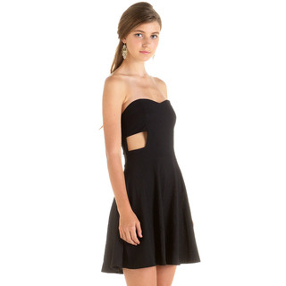 59 Seconds - Cut Out Strapless Dress