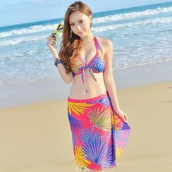 Rachel Swimwear - 套裝: 印花比基尼 + 圍巾