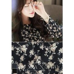 MyFiona - Wrap-Front Flower Patterned Dress