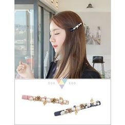 soo n soo - Faux-Pearl Flower Hair Clip