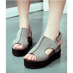 TULASI - Slingback Wedge Sandals