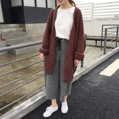 Chililala - Plain Long Chunky Cardigan