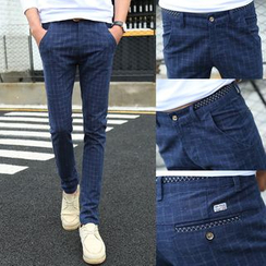 JORZ - Plaid Skinny Pants