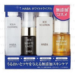 HABA - Trial Kit: Squa Cleansing + White Lady + VC Lotion + Whitening Squalane