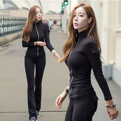Renee - 运动套装: 拉链外套 + 运动裤