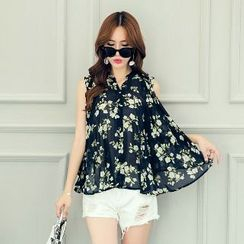 Romantica - Sleeveless Floral Blouse