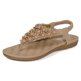 yeswalker - Flower-Accent Thong Sandals