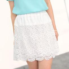 59 Seconds - Crochet Panel A-Line Skirt