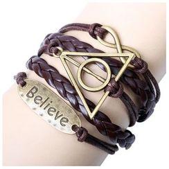 KINNO - Geometric Woven Layered Bracelet