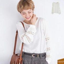 CatWorld - Crochet-Trim Top