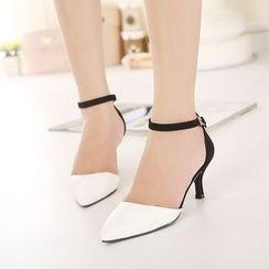 Anran - Pointed Ankle Strap Pumps
