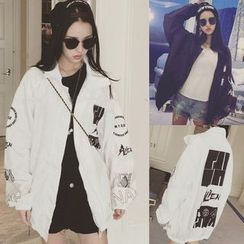 Glen Glam - Print Trench Jacket