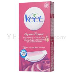 Veet - EasyGrip Ready-to-Use Wax Strips (with Velvet Rose Fragrance & Essential Oils)