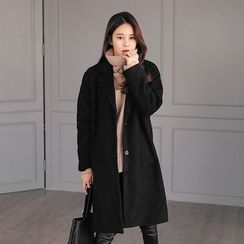 PPGIRL - Single-Breasted Notched-Lapel Coat
