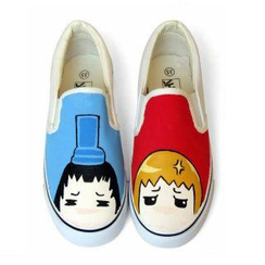 HVBAO - Painted Boy Canvas Slip-Ons