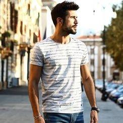 Simwood - Striped Short Sleeve T-Shirt
