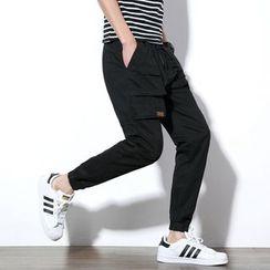 Besto - Elastic Cuff Cargo Pants