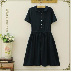 Storyland - Peter Pan Collar Drawcord Dress