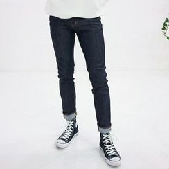 Seoul Homme - Straight-Cut Washed Jeans