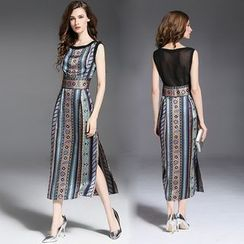 Elabo - Patterned Midi Dress