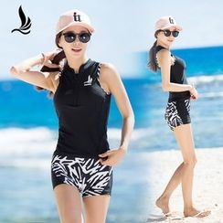 SANQI - Print Panel Swimsuit
