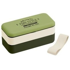 Skater - Fine Style Simple Lunch Box (Green)