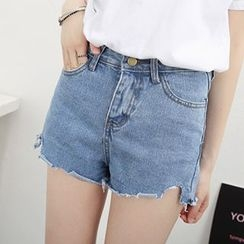 Honey House - Distressed Denim Shorts