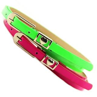 Cuteberry - Heart-Accent Slim Belt