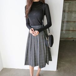 Hello sweety - Plaid Pleated Skirt
