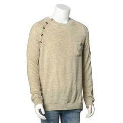 JVR - Buttoned Raglan Knit Top
