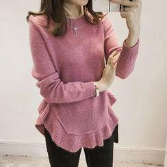 Little V - Ruffle Hem Sweater