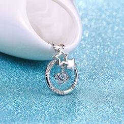 Zundiao - 银质水钻星星吊坠