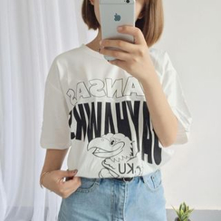 Cerauno - Printed Short Sleeve T-Shirt
