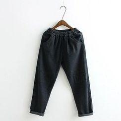 Aigan - Knee-Patch Boyfriend Jeans