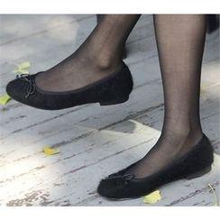 Picapica - Beribboned Furry Flats