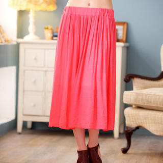 JK2 - Pleated Midi Skirt