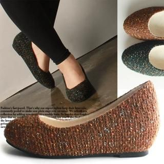Reneve - Tweed Wedge Flats