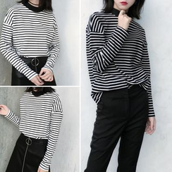 Moon City - Long-Sleeve Striped T-Shirt