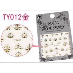 Benlyz - 3D Nail Sticker (TY-12G)