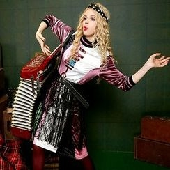 ELF SACK - Long-Sleeve Velvet Dress
