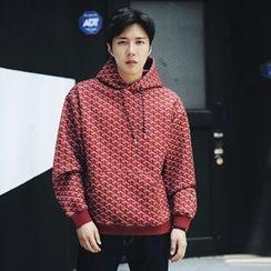 MRCYC - Drawstring Hooded Print Pullover