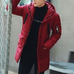 Bay Go Mall - Hooded Long Padded Jacket